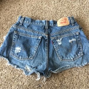 levi vintage high wasted shorts